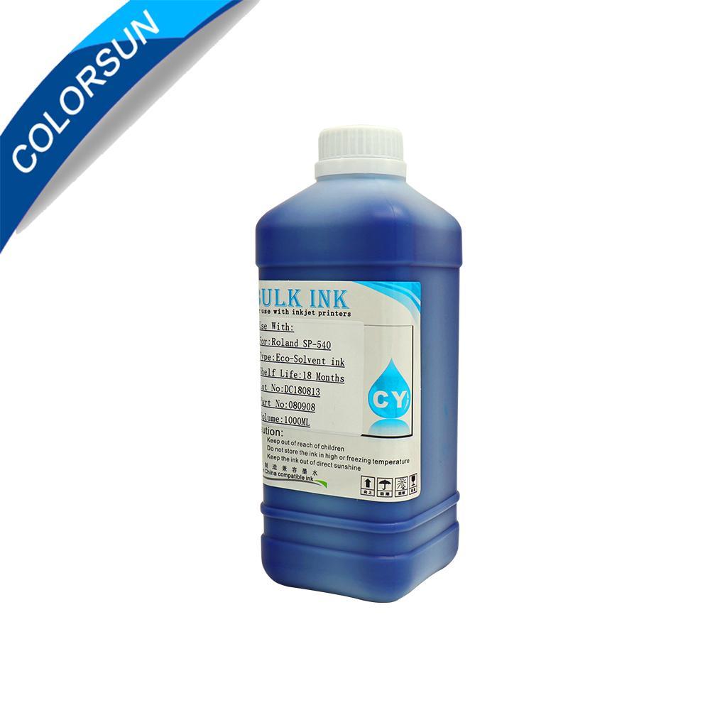 适用于中国DX5 DX6 DX7打印机的ECO-Solvent墨水和国外品牌MIMAKI ROLAND MUTOH等 5