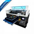 Colorsun快速8色自动A3 +大小T恤平板打印机4720 DTG 1