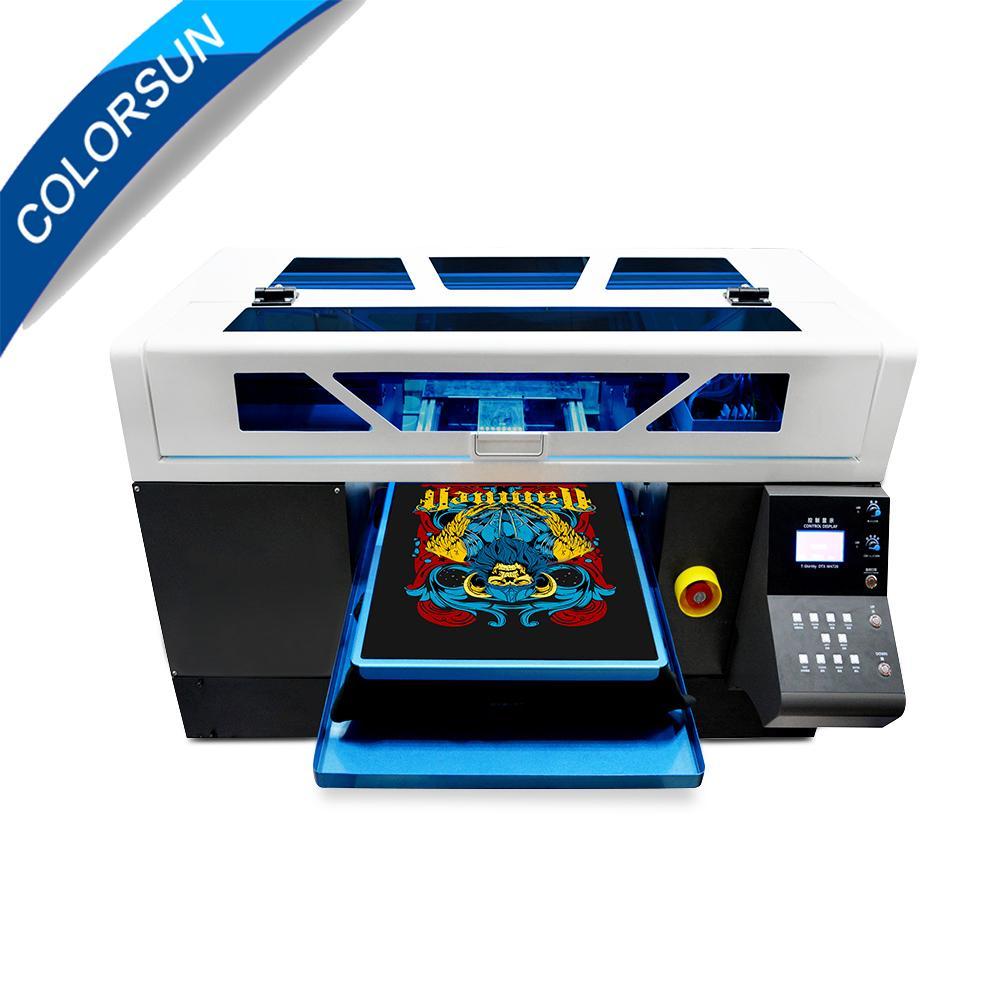 Colorsun快速8色自动A3 +大小T恤平板打印机4720 DTG 5