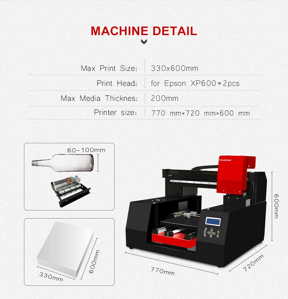 Automatic A3+ 3060 UV printer with double printheads 5