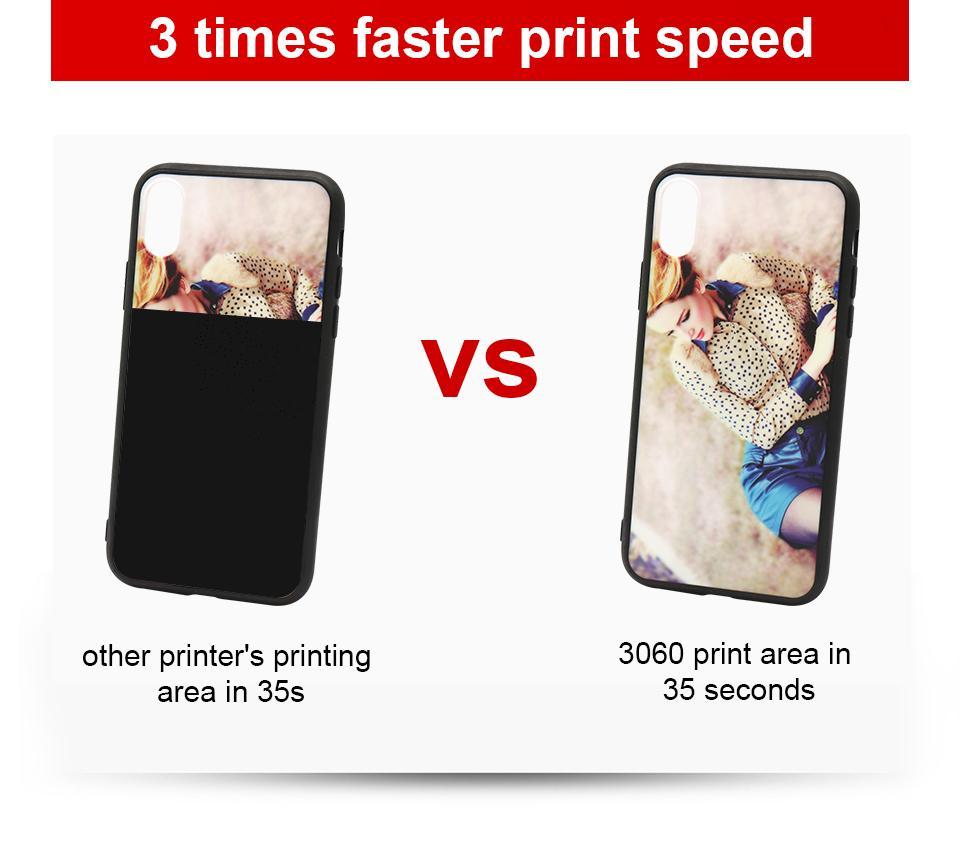 全自动带有双打印头的A3 + 3060 UV打印机 9
