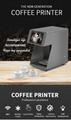 Faster selfie-printable coffee beer juice cake latte printing machine