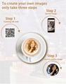 速度更快可自拍打印的CSC5咖啡啤酒果汁蛋糕拿鐵印花機 5