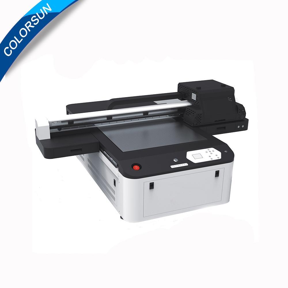 全自動6090 uv版印刷機印刷色彩,玻璃金屬塑料清漆uv印刷機A1 uv印刷機 1