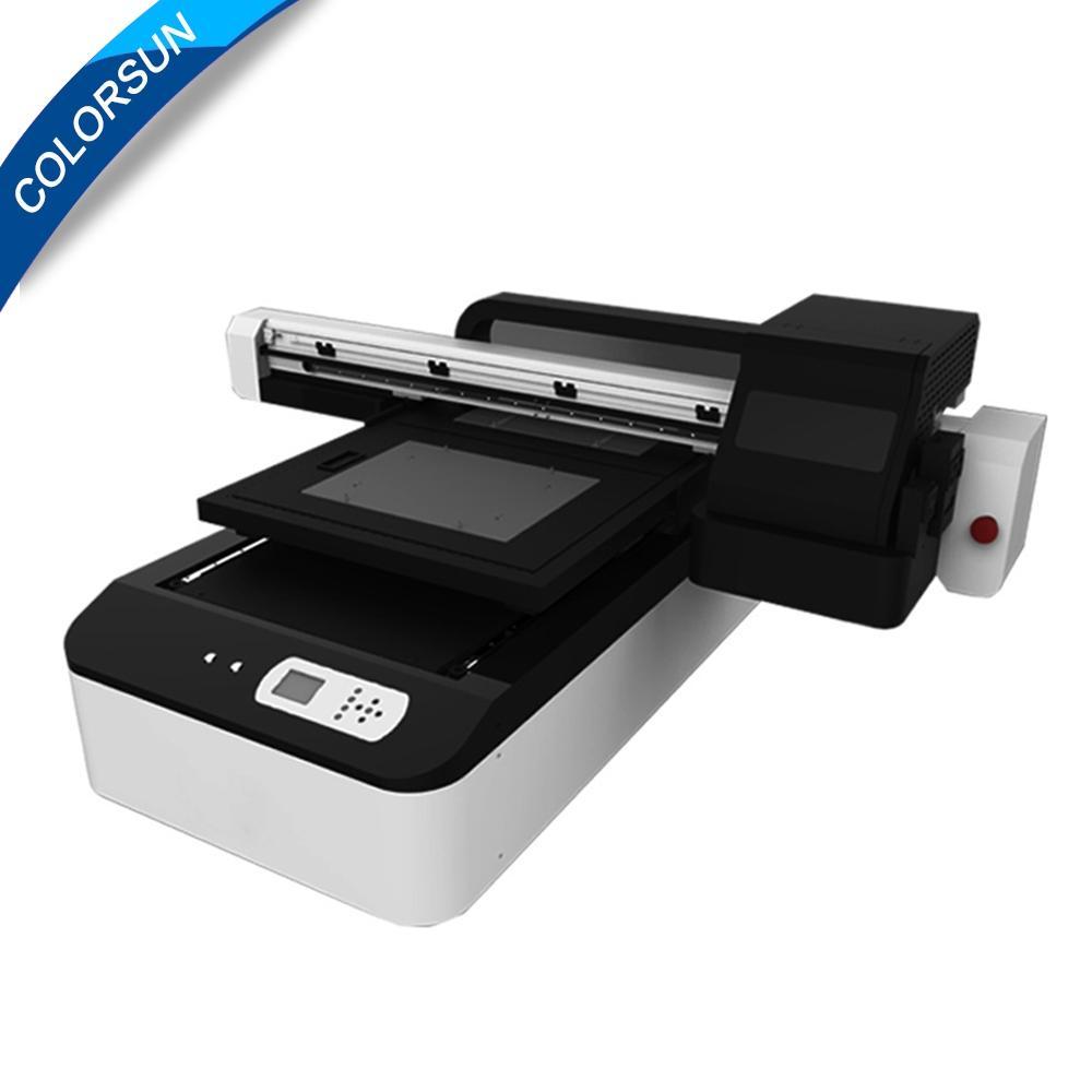 全自動6090 uv版印刷機印刷色彩,玻璃金屬塑料清漆uv印刷機A1 uv印刷機 2