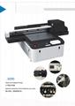 全自动6090 uv版印刷机印刷色彩,玻璃金属塑料清漆uv印刷机A1 uv印刷机 3