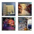 全自动6090 uv版印刷机印刷色彩,玻璃金属塑料清漆uv印刷机A1 uv印刷机 7