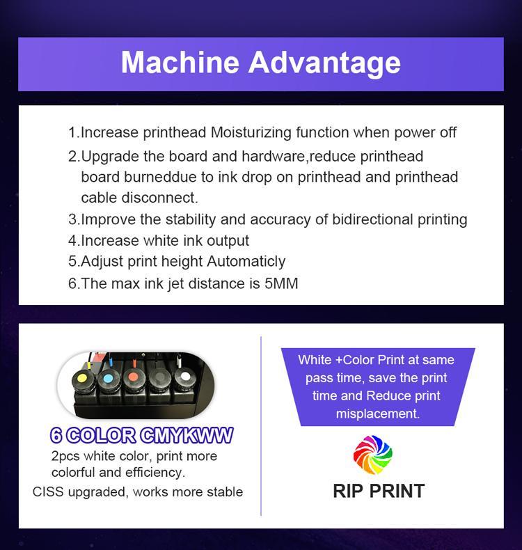 適用於Epson DX9工業A3+ UV打印機3060的移動蓋筆瓶印刷機 2