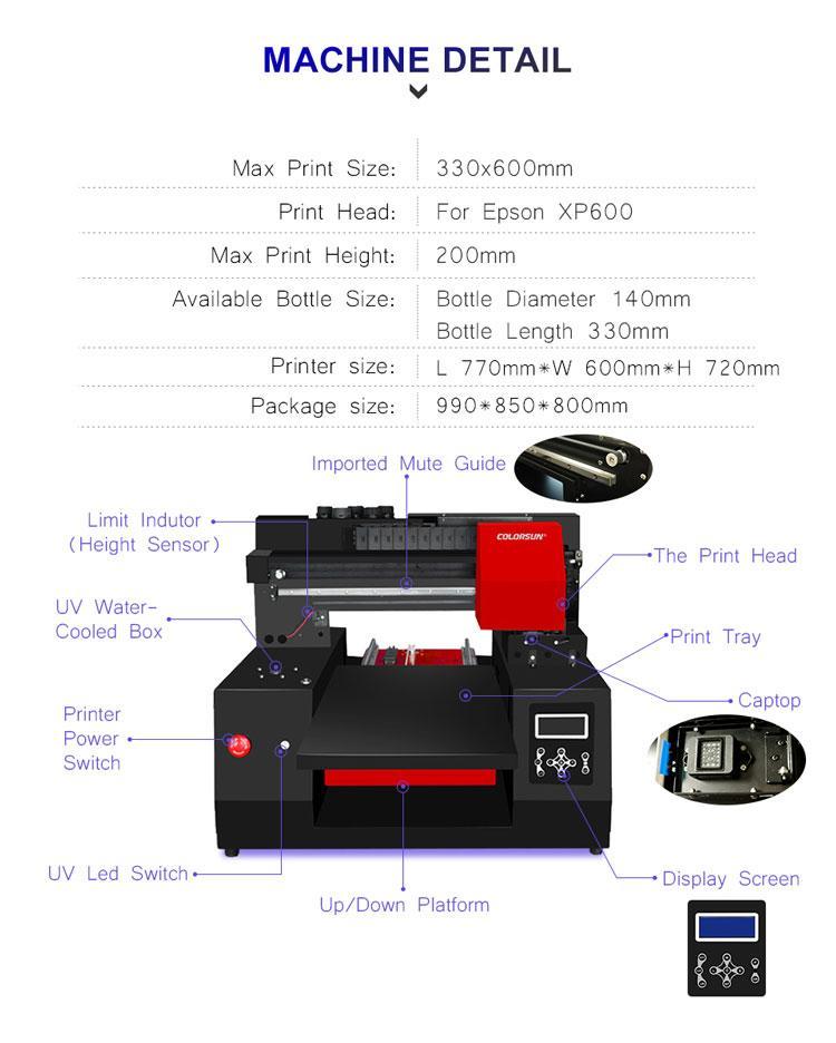 适用于Epson DX9工业A3+ UV打印机3060的移动盖笔瓶印刷机 5
