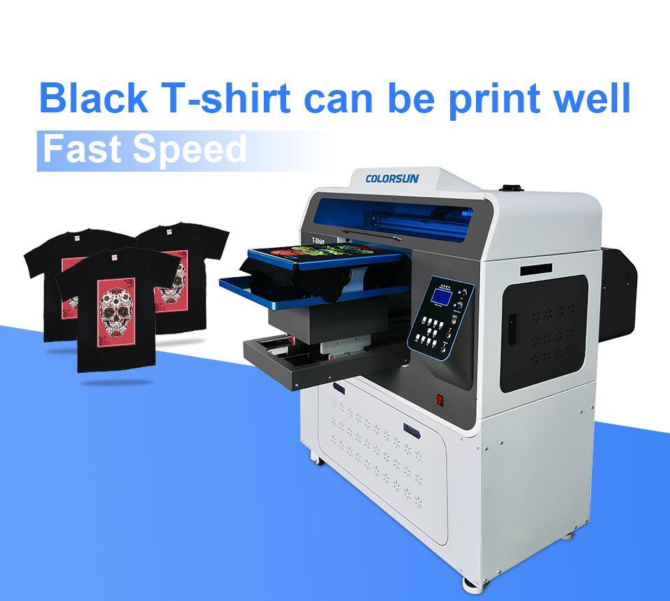 Colorsun快速8色自动A3 +大小T恤平板打印机4720 DTG 2