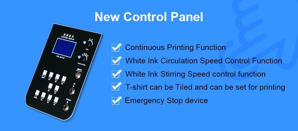 Colorsun快速8色自动A3 +大小T恤平板打印机4720 DTG 7