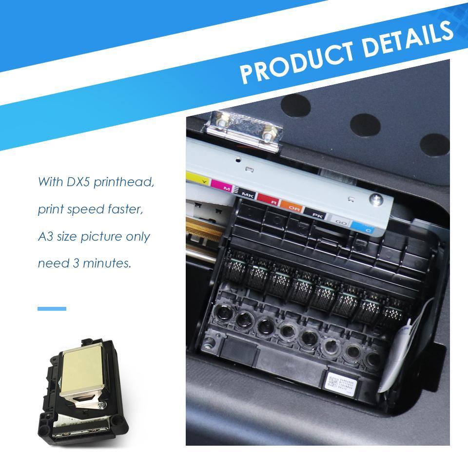 彩阳自动A3大小8色DX5 dtg纺织品打印机牛仔裤打印机 6