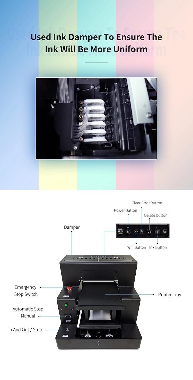 彩阳自动A3大小8色DX5 dtg纺织品打印机牛仔裤打印机 5