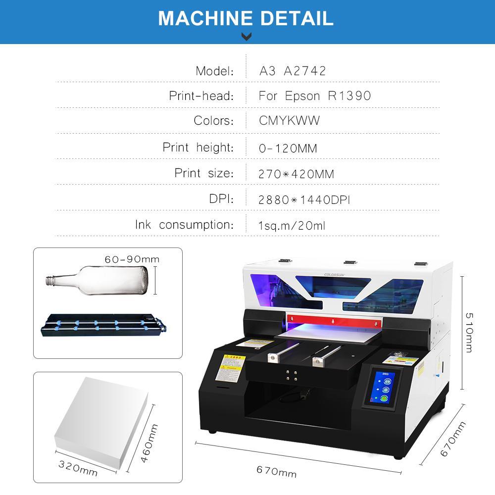 全自动6种颜色A2742UV平板打印机 3