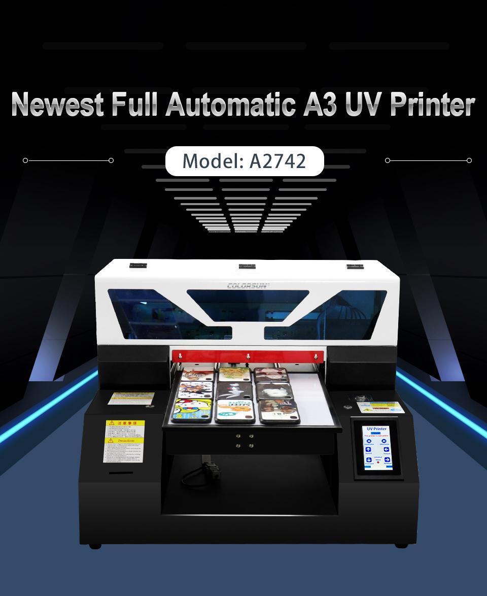 全自动6种颜色A2742UV平板打印机 4