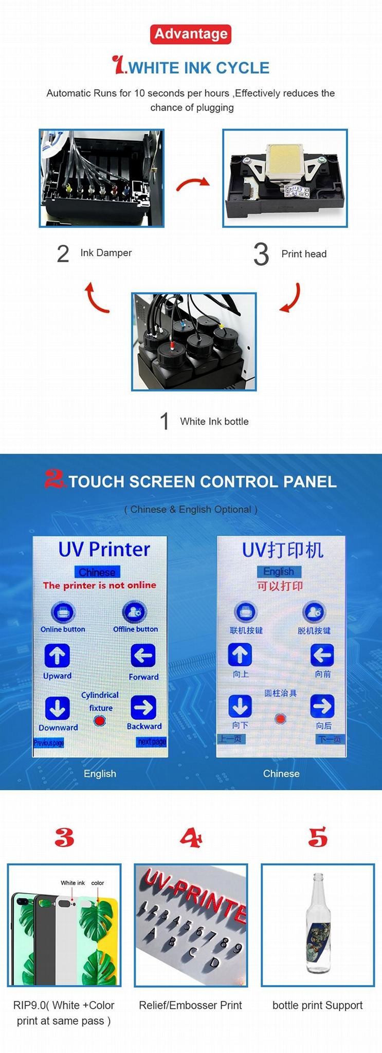 全自动6种颜色A2742UV平板打印机 6
