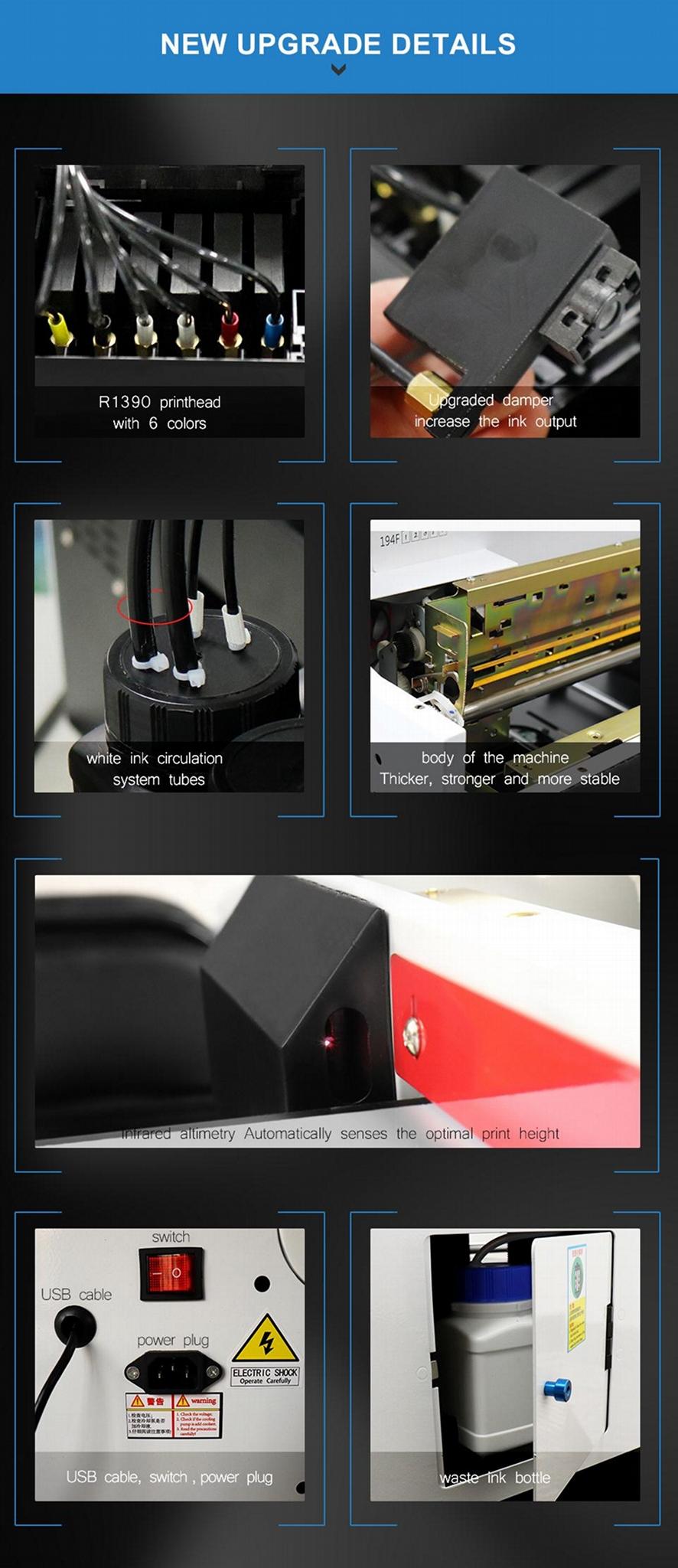 全自动6种颜色A2742UV平板打印机 7