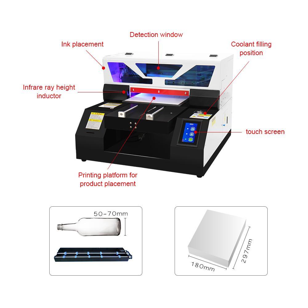 2019新款全自动A4UV打印机6种颜色 4