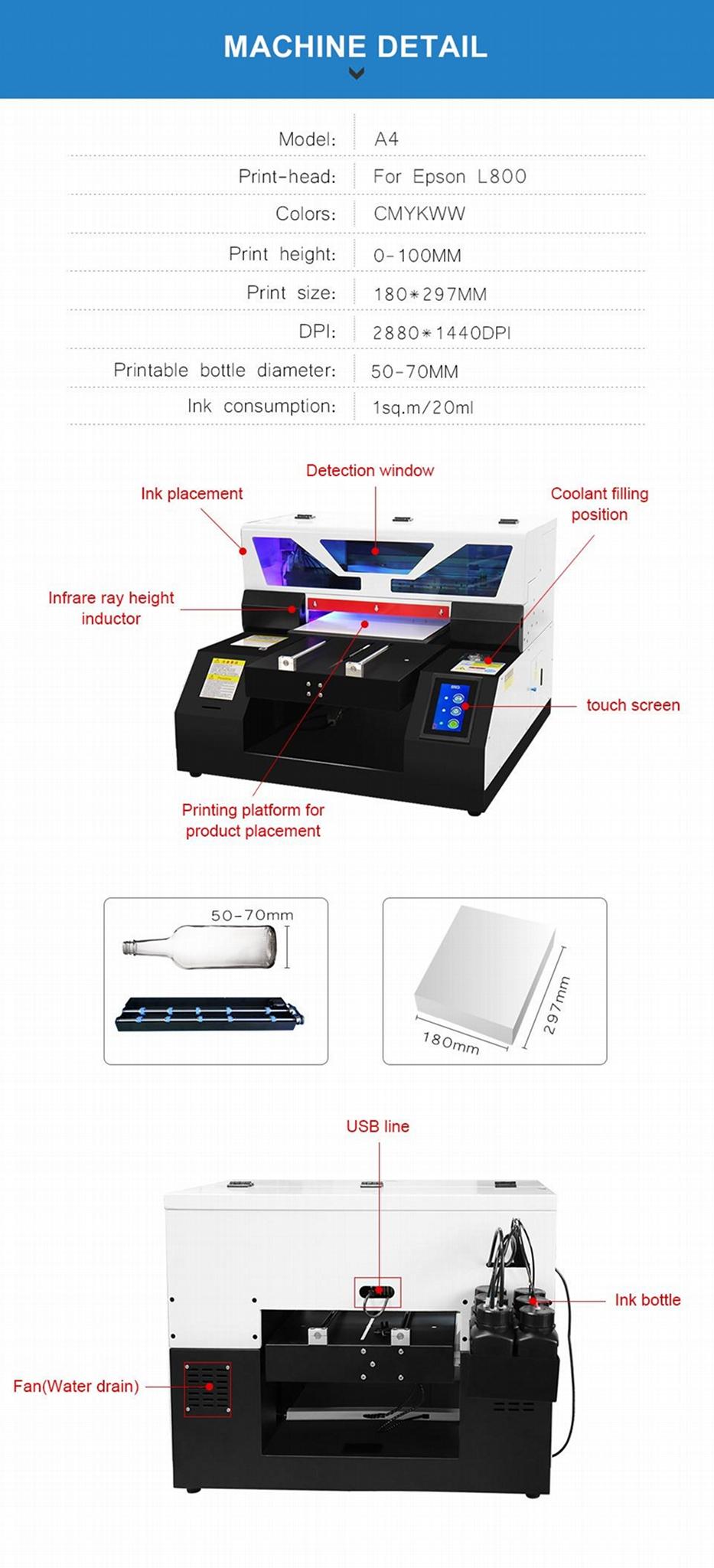 2019新款全自动A4UV打印机6种颜色 8
