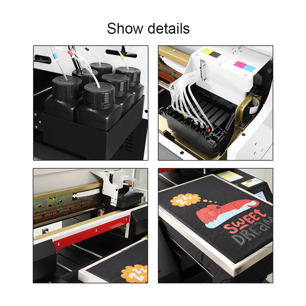 2020 New  automatic  A3 Flatbed Printer for 6 color A2742 3