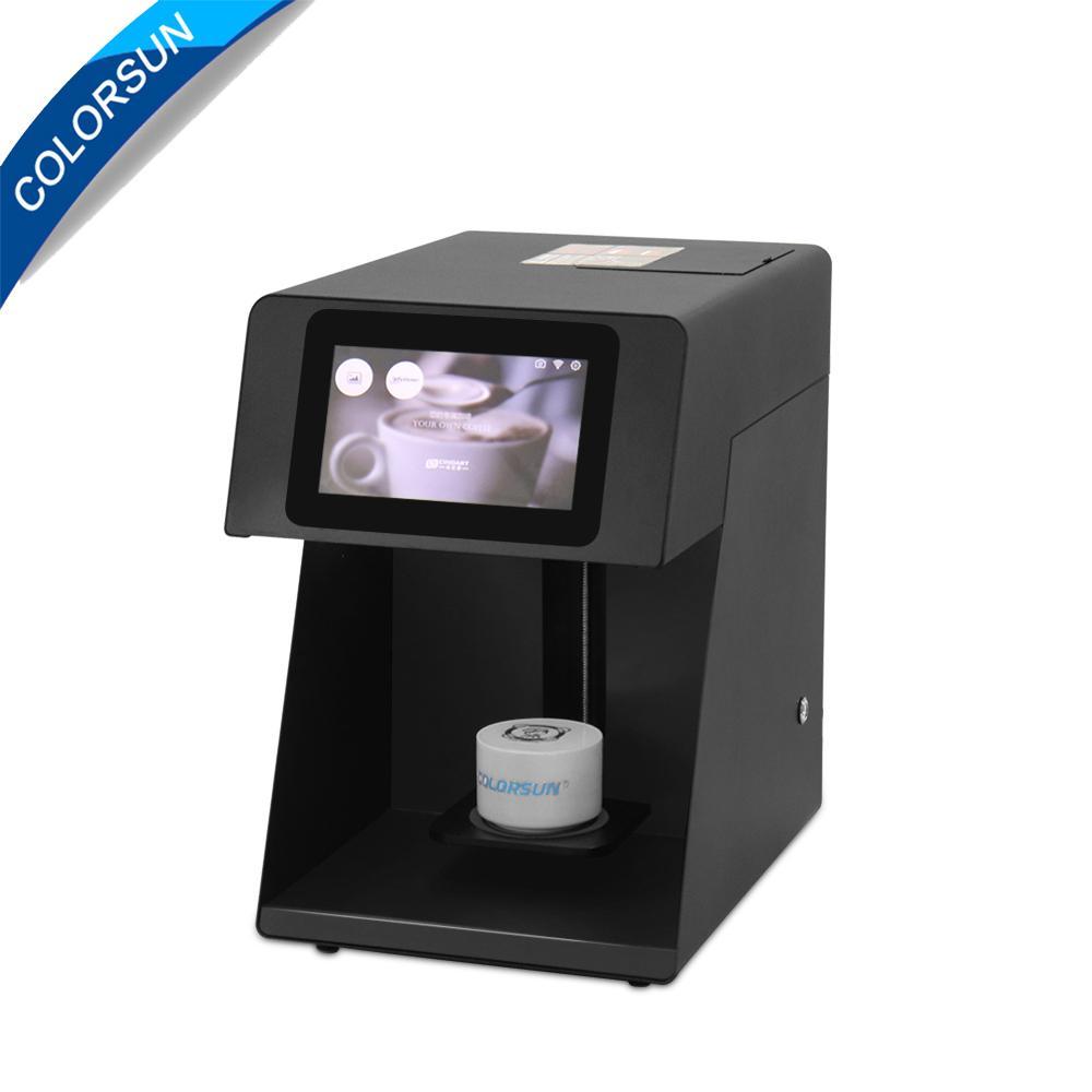 速度更快可自拍打印的CSC5咖啡啤酒果汁蛋糕拿鐵印花機 1