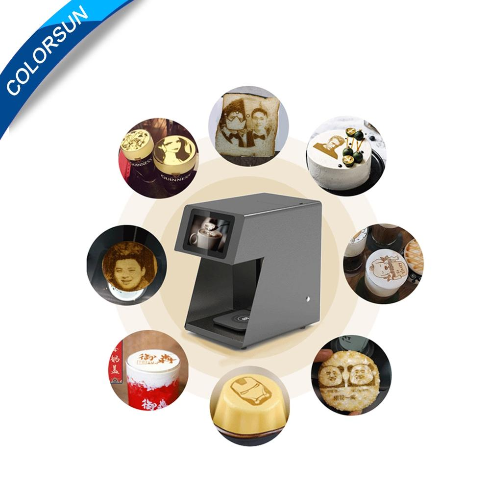速度更快可自拍打印的CSC5咖啡啤酒果汁蛋糕拿鐵印花機 4
