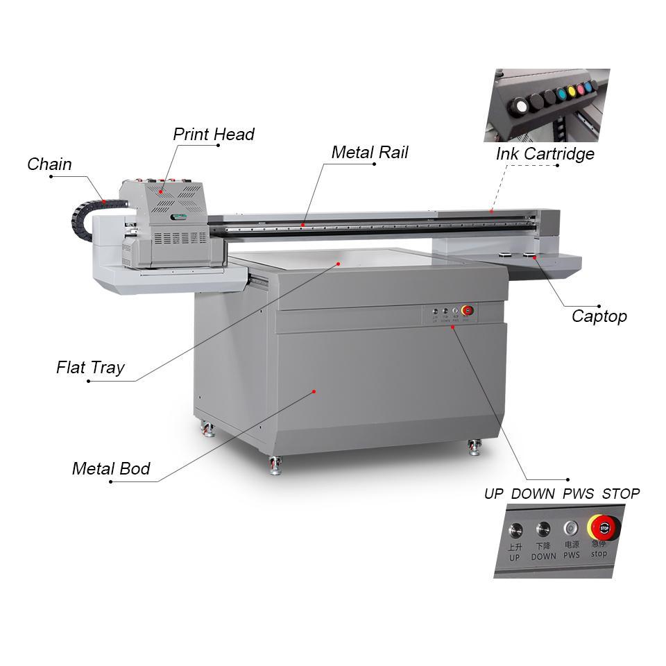 全新升級自動9060尺寸UV平板打印機大幅面打印機 2