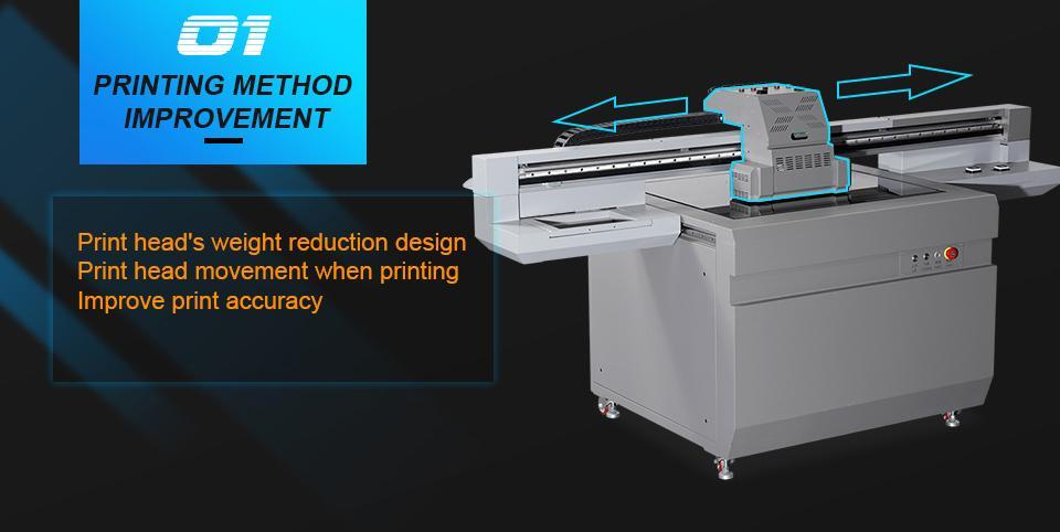 全新升級自動9060尺寸UV平板打印機大幅面打印機 3