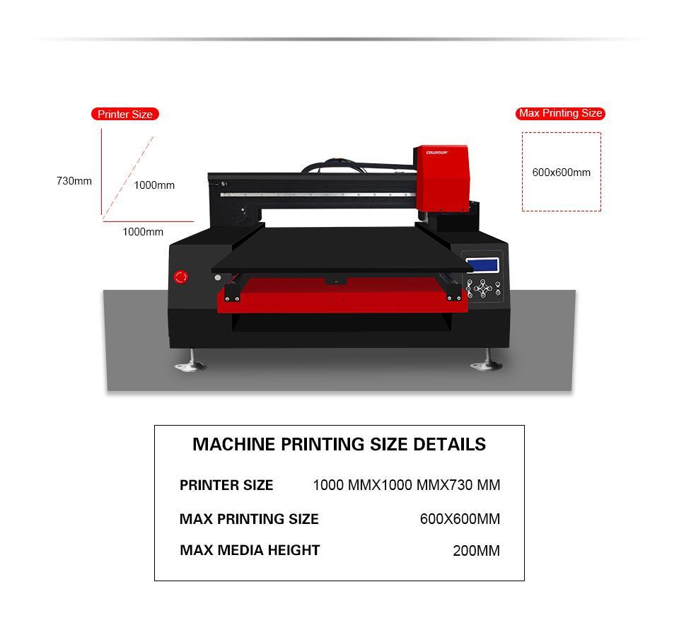 带有计算机的高速自动6060 UV打印机 6