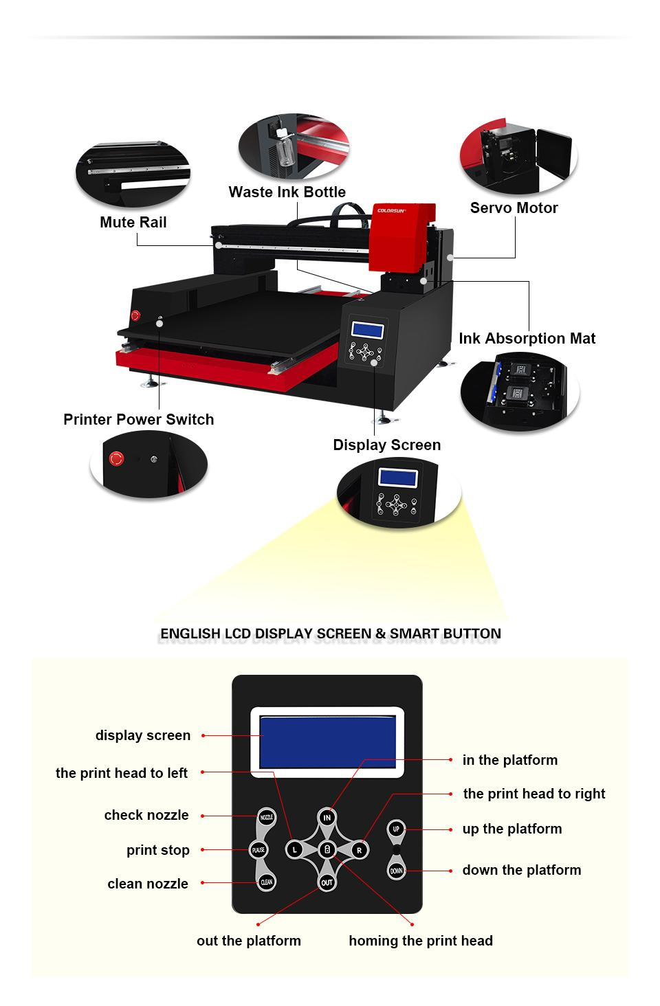 High speed Automatic 6060 UV Printer with computer 7