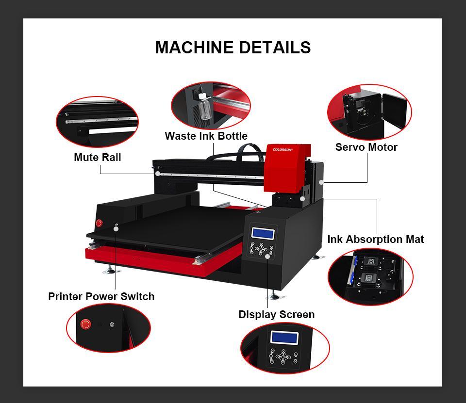 带有计算机的高速自动XP6090 UV打印机 8