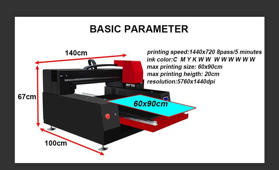 带有计算机的高速自动XP6090 UV打印机 9