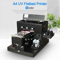 New upgraded A4 UV  Flatbed Printer with 6 color(Black) 3