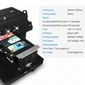 New upgraded A4 UV  Flatbed Printer with 6 color(Black)