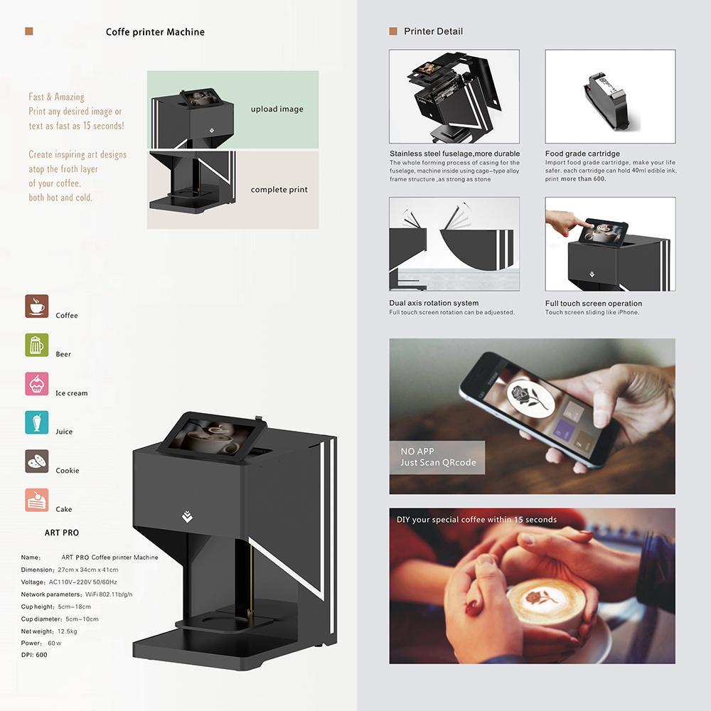 自动CSC4-II高速咖啡打印机带平板电脑打印 3