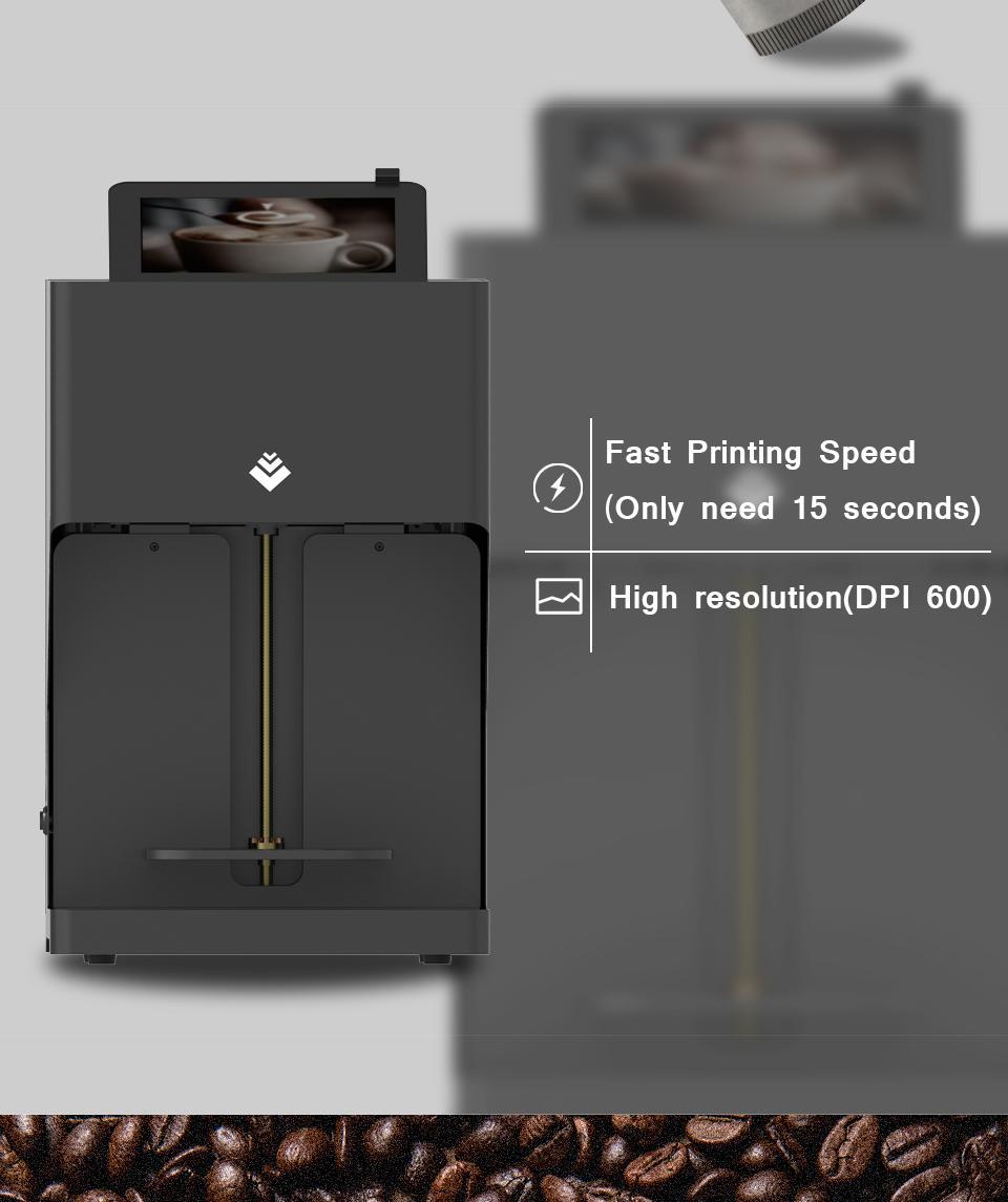自动CSC4-II高速咖啡打印机带平板电脑打印 4