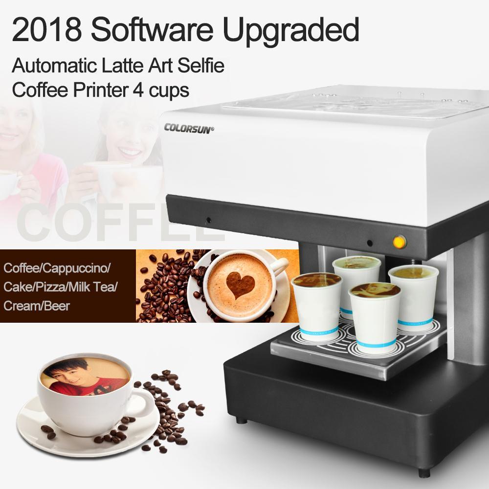 4杯拿铁艺术CSC1-4咖啡打印机自动用于食品茶咖啡 6