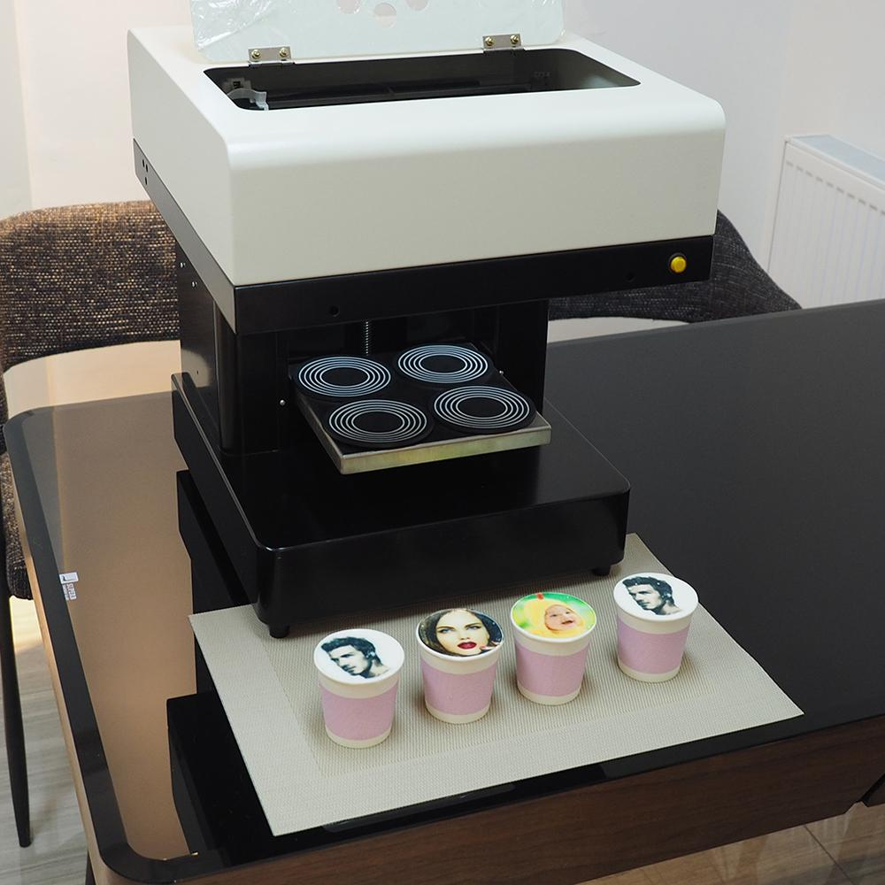 4杯拿铁艺术CSC1-4咖啡打印机自动用于食品茶咖啡 3