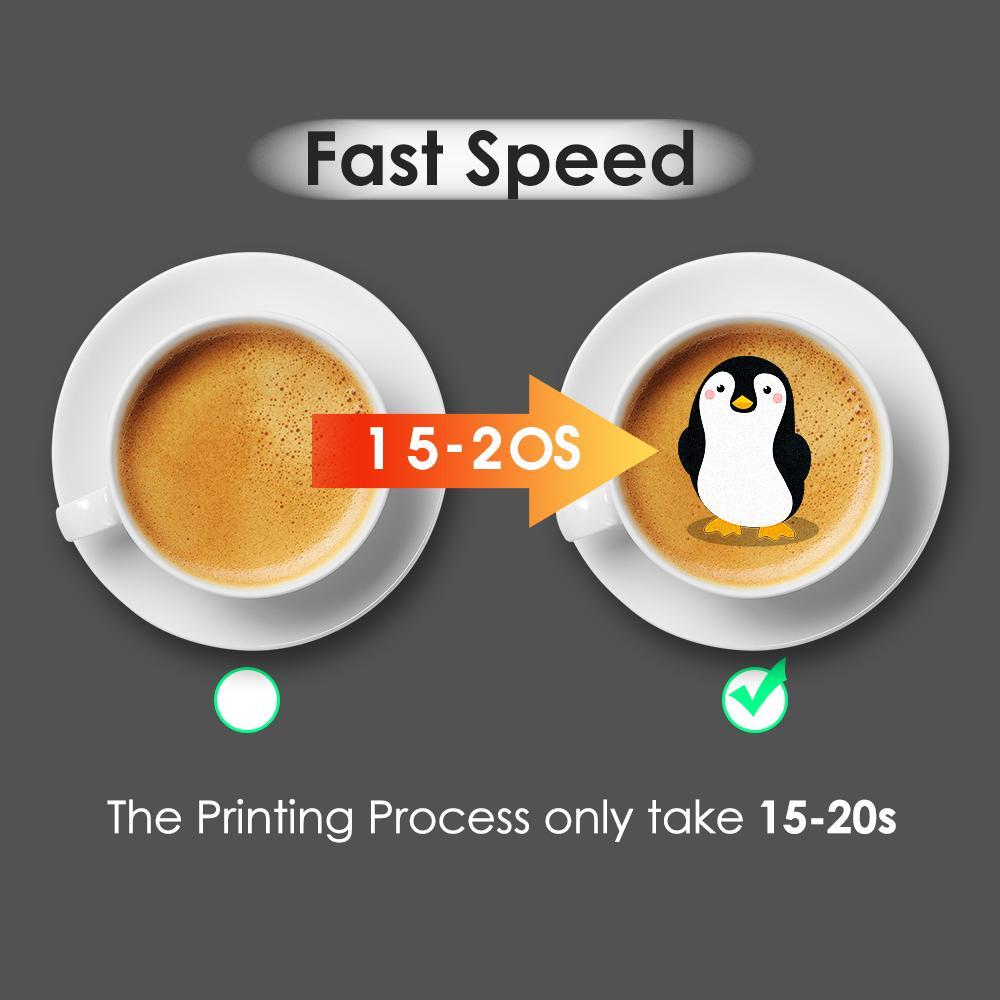 新到达CSC1自拍照咖啡打印机,用照片自己动手制作咖啡 8