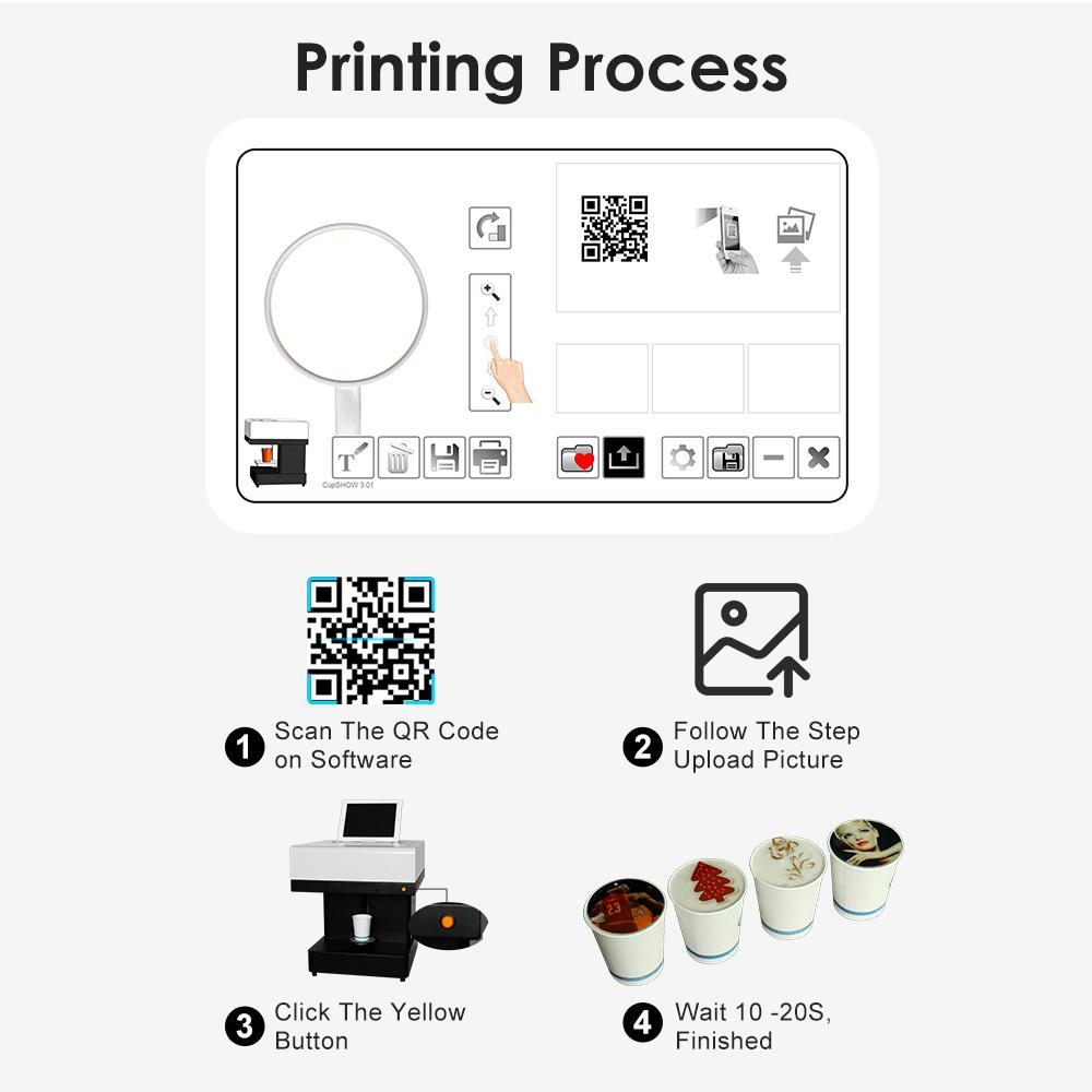 新到达CSC1自拍照咖啡打印机,用照片自己动手制作咖啡 9