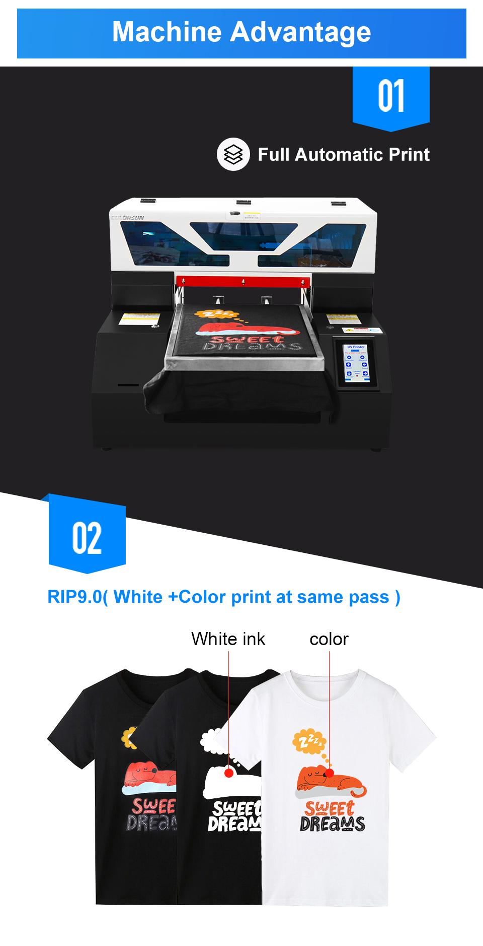 2020 New  automatic  A3 Flatbed Printer for 6 color A2742 5
