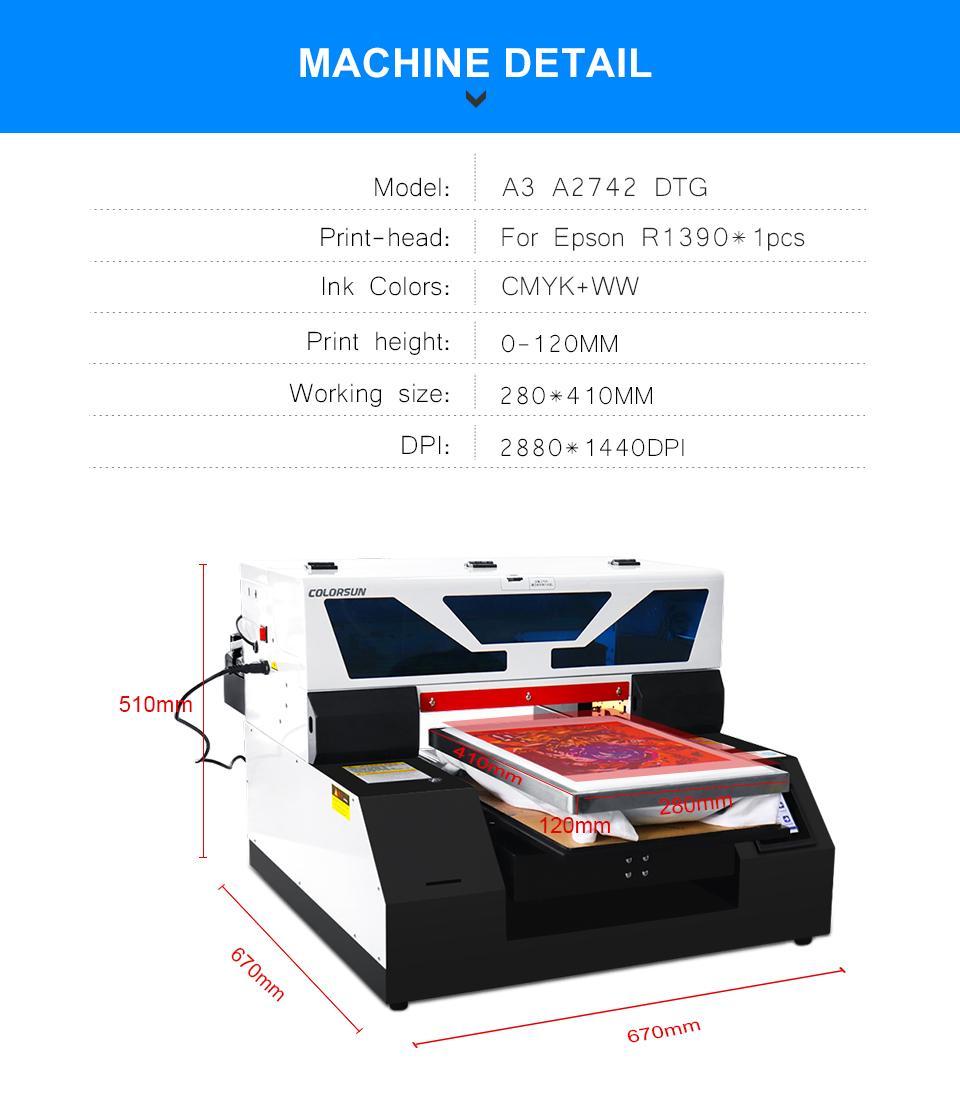 2020新型自动A3平板6色打印机 7
