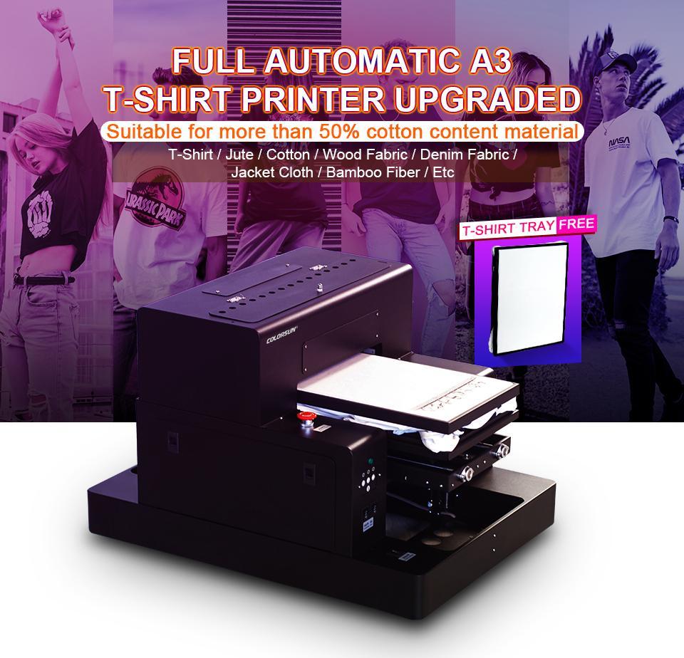 Colorsun新款A3 +尺寸F3050dtg T卹打印機 4