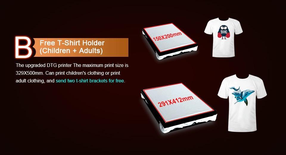Colorsun New A3+ Size F3050 digital direct to garment dtg tshirt printer  9