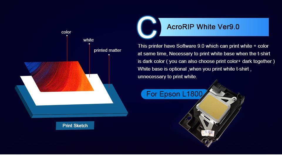 Colorsun New A3+ Size F3050 digital direct to garment dtg tshirt printer  11