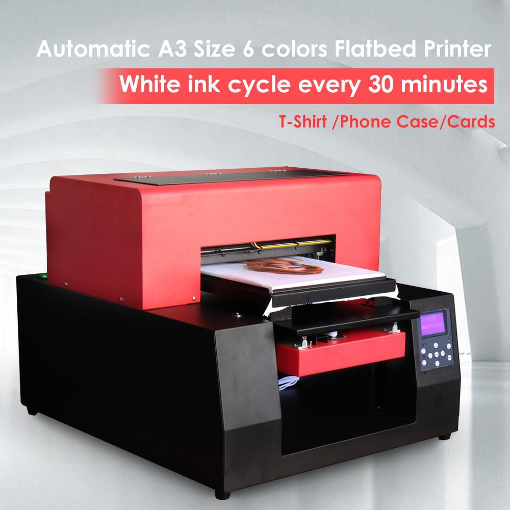 带计算机的自动A3平板打印机 3