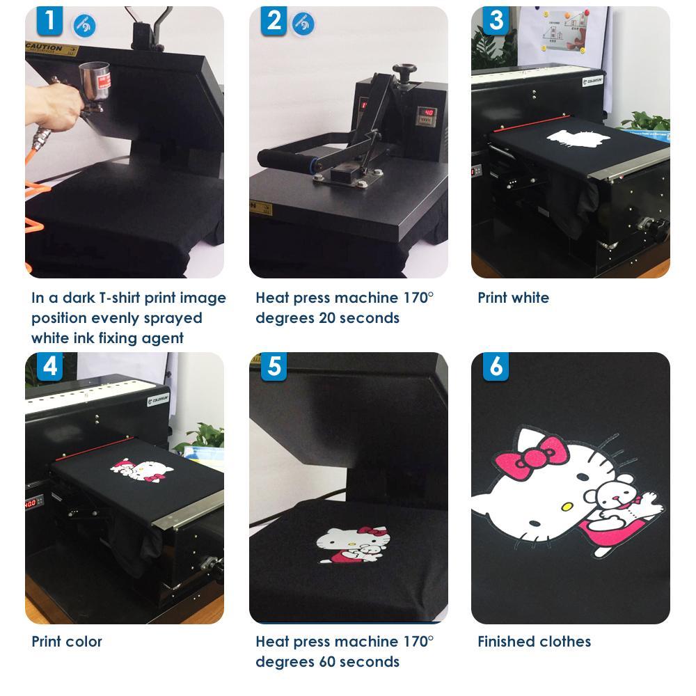 自動A3平板打印機8色 7