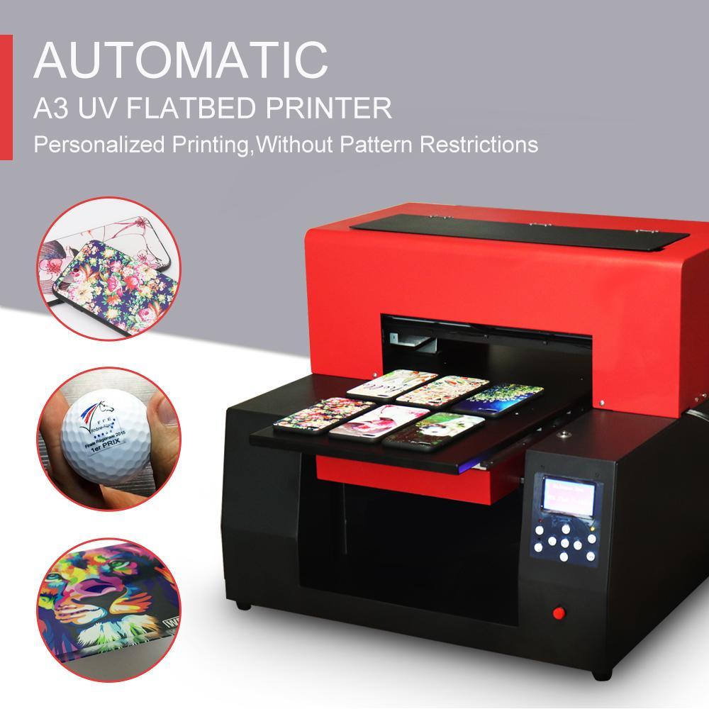 新型數字自動A3 UV打印機6色(紅色) 3
