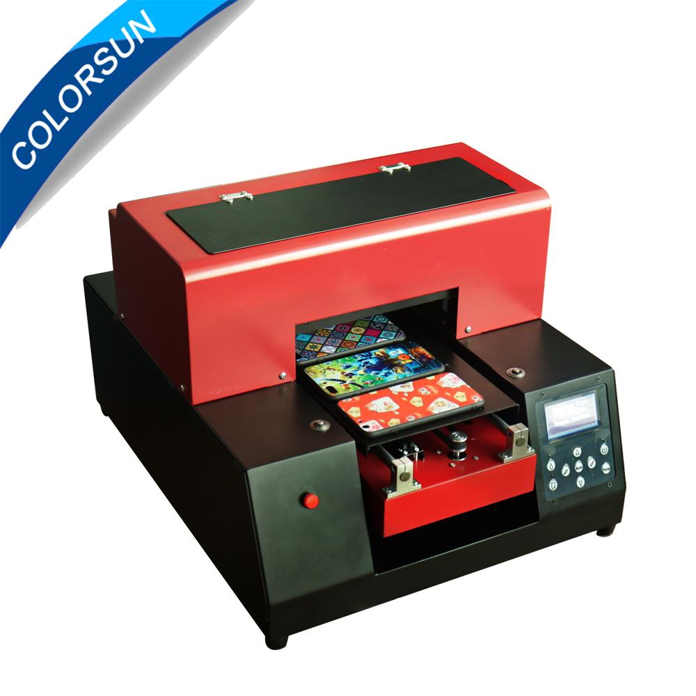 New upgraded A4 UV Flatbed Printer with 6 color(Red) 1