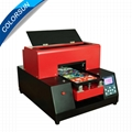 New upgraded A4 UV Flatbed Printer with 6 color(Red) 2